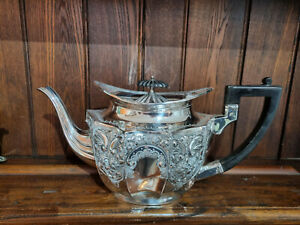 Good Victorian Silver Plated Repousse EPBM Teapot