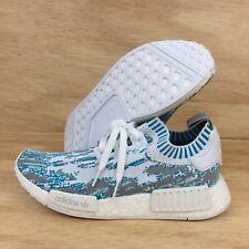 """Adidas NMD R1 PK x SNS """"Datamosh"""" BB6364 Mens SZ 7 White Aqua Shoes Sneakers"""