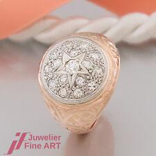 Ring-antik- mit 16 Diamanten (Diamant) ges.ca.0,70 ct 18K/750 Rotgold & Weißgold