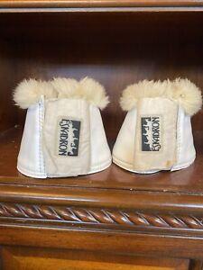 Eskadron Sheepskin Dressage Bell Boots - LARGE White