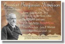 Presidential Series - U.S. President Benjamin Harrison New Classroom Poster