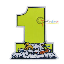 (1) VALENTINO ROSSI VR 46 VALE NUMBER 1 DOG STICKER MOTOGP YAMAHA THE DOCTOR