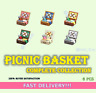🥐 Picnic Basket 🥙 Complete Collection 6 Pcs NOOK Shopping - Catalog FASTEST!!!