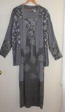Citron Santa Monica Sz M Art-Wear Elegant Long Tank Brocade Dress +Kimono Jacket