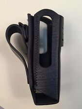 Black Hard Leather Carry Case for Motorola DGP5550 XPR7550 XPR7580 Radio