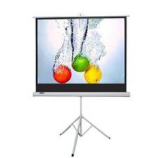 """Maxstar 50""""x 50"""" Portable Tripod Projector Screen 1:1 Video Format Matte White"""