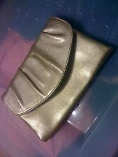 Great condition gold lame colored clutch lined purse evening handbag