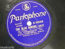 """78rpm 12"""" BERLIN STATE OPERA - MOERIKE blue danube waltz 1&2 , E 10636"""