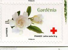 FRANCE 2014, timbre CROIX ROUGE AUTOADHESIF FLEURS, GARDENIA, neuf**, FLOWERS