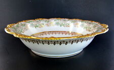 "10"" Antique Pouyat Limoges France Dinner Serving Bowl Wanamaker Early 1900s"