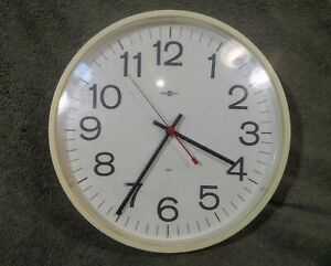 Large Vintage Modern Wall Clock by Howard Miller - Made in the USA