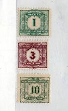 Uruguay Tasas Valor nº 1 y otros año 1902-22 (CV-973)