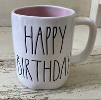 "Rae Dunn 2021 Mug ""HAPPY BIRTHDAY"" Pink Interior NEW HTF! Low ship! 💗🎂🎈🎁"
