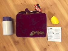 Vintage 2001 Harry Potter Purple School Lunch Box With Thermos Cooler New W/Tags