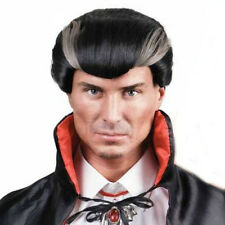 Black Grey Bloodthirst Vampire Halloween Dr tom's party costume wig