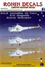 Ronin Decals 1/48 SIKORSKY S-51 DRAGONFLY Australian Air Force Helicopters