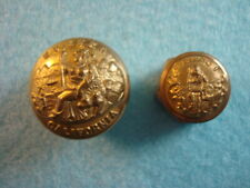 Post Civil War California State Seal Military Buttons Lot of 2