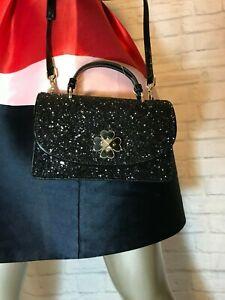 NWT Authentic KATE SPADE mini top handle crossbody odette glitter Think Unicorn