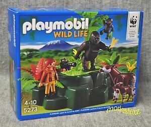 Playmobil 5273 WWF-ZOOLOGIN bei Okapis und Gorillas WILD LIFE Neu