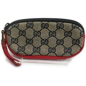 Gucci Accessories Pouch  Reds Canvas 1214169