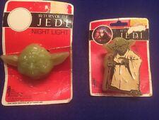 Vintage Star Wars Return of the Jedi Yoda Night Light Lot Adam Joseph 1983