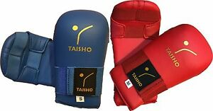 KARATE MITTS, GLOVES, RED or BLUE, 6 x Sizes available ~ Adults and Kids sizes