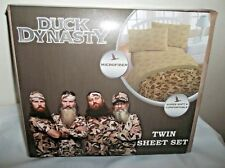 Duck Dynasty Microfiber Super Soft Comfortable Twin Sheet Set Tan W/ Ducks