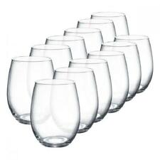Stemless Wine Glasses Set Home Bar Drinking Glassware Cup Boxed Gift 15oz 12Pcs
