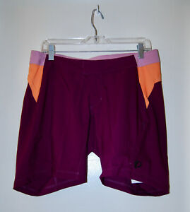 NWT Pearl Izumi Women's Dark Purple Padded Detachable Liner Canyon Shorts sz L