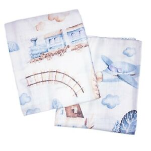 3 pack LARGE BABY MUSLIN SQUARES CLOTHS REUSABLE NAPPY COMFORTER BABY SHOWER