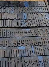Letterpress Alphabet 196pcs 425 Wood Printing Blocks Letterpress Wooden Type