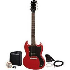 Red Electric Guitar Kit Double Cutaway Maestro by Gibson Amp Picks DVD & More
