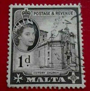 Malta:1956 -1957 Elizabeth II 1 P. Rare & Collectible Stamp.