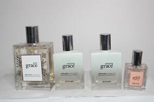 Philosophy Amazing Grace Perfume Set2 oz. x2 4 oz. Pure Grace 0.5 oz.  NEW USA