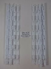 "12 Qty. 6-Station Hook or Clip Reusable Merchandising Strips 15"" White New"