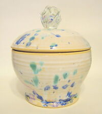Art Pottery Ceramic Jar Glass Knob Hand Thrown Signed 6 Inches 2001
