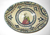 Henriot Quimper, France, Woman w/ Green Shirt & Red Apron, Oval Bowl, 7""