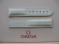 Omega Ladies Speedmaster 17mm Cream/White Alligator Deployment Strap No 98000202