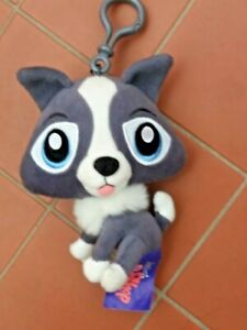 Littlest Pet Shop Plush Dog Keychain Bag Tag 15cm  LPS Hasbro