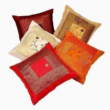 Decorative Silk Pillow Cover Mandala Throw Handmade Decorative Ethnic Cushion