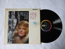 PEGGY LEE ~ MINK JAZZ ~ T 1850 ~ EX/VG+ ~ 1963 UK MONO VINYL LP ~ PLAYS WELL