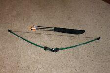 Vintage Green BEAR GOBLIN Archery BOW & Arrows