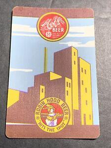 Metz Robin Hood Beer Single Playing Swap Card Omaha Nebraska