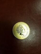 2000 Australian 1oz Gold Plated Souvenir Coin