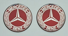 2pcs x Mercedes Benz Vintage Logo (Dia 50mm). 3D a Cupola Adesivi/Decalcomanie.