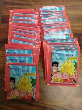 LOT OF 6O PACKS DRAGON BALL Z COMBAT CARDS PANINI PRESS RARE SPANISH 8 PER PACK