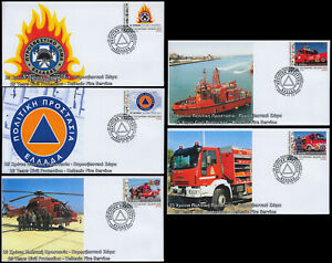 Greece 2020 Civil Protection Hellenic Fire Service (U) FDC self-adhesive Booklet