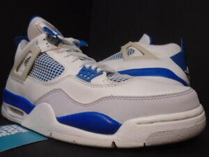NIKE AIR JORDAN IV 4 RETRO WHITE MILITARY BLUE CEMENT GREY BLACK 308497-141 12