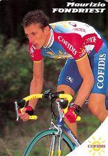 CYCLISME carte cycliste MAURIZIO FONDRIEST équipe COFIDIS 1998