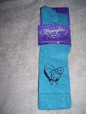 Wrangler Socks - Ladies Cushioned Horseshead - #9496 - Teal - Medium - 9 to 11